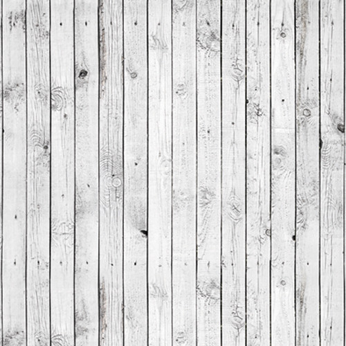 Click Props Backdrops White Plank Backdrop (5 x 5')