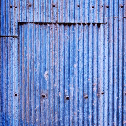 Click Props Backdrops Blue Corrugated Panel Backdrop (5 x 5')