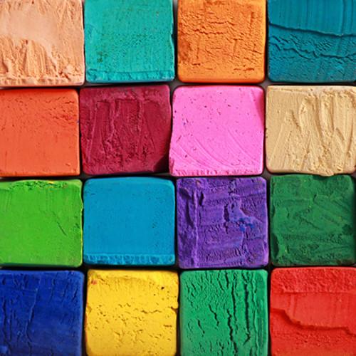 Click Props Backdrops Coloured Blocks Backdrop (5 x 5')