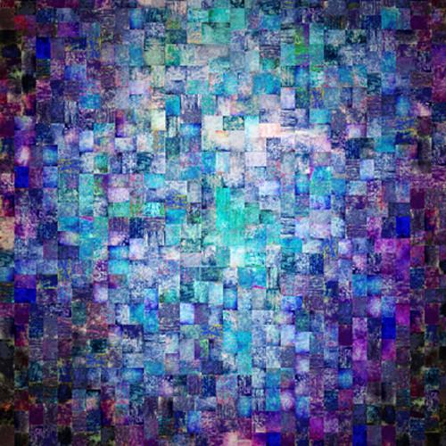 Click Props Backdrops Aqua Mosaic Backdrop (5 x 5')