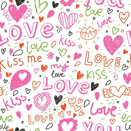 Click Props Backdrops Love And Kisses Backdrop (5 x 5')