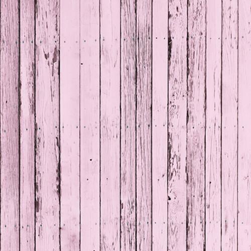 Click Props Backdrops Pink Beach Wood Backdrop (5 x 5')