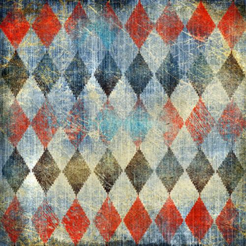 Click Props Backdrops Denim Harlequin Backdrop (5 x 5')