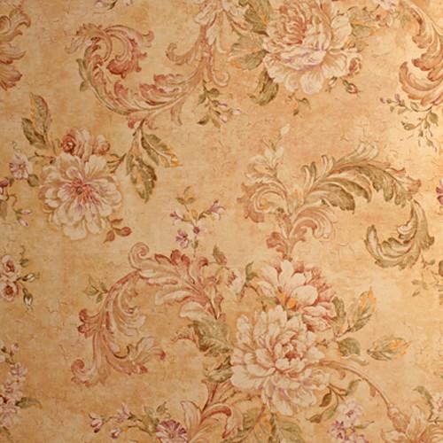 Click Props Backdrops Medieval Flower Gold Backdrop (5 x 5')