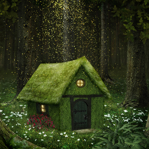 Click Props Backdrops Enchanted Cottage Backdrop (5 x 5')
