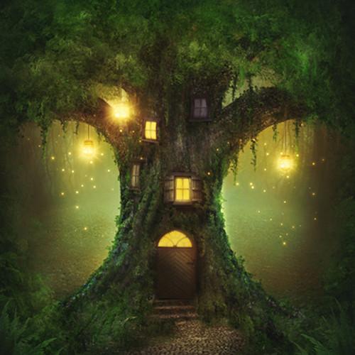 Click Props Backdrops Enchanted Tree Backdrop (5 x 5')