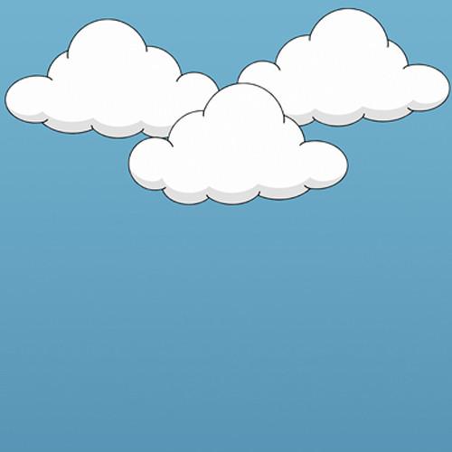 Click Props Backdrops Cartoon Clouds Backdrop (5 x 5')