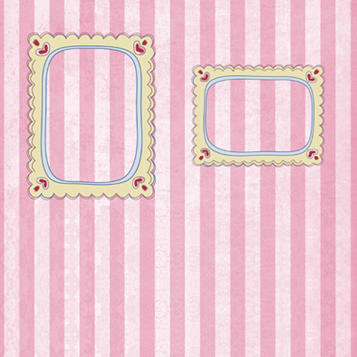 Click Props Backdrops Pink Candy Frame Backdrop (5 x 5')
