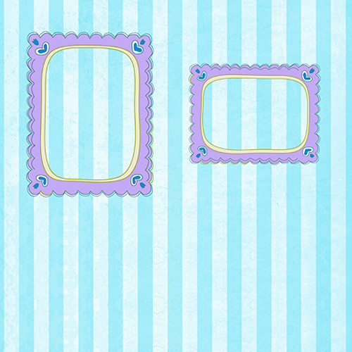 Click Props Backdrops Blue Candy Frame Backdrop (5 x 5')