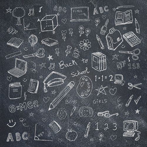 Click Props Backdrops Chalkboard School Backdrop (5 x 5')
