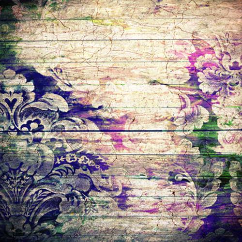 Click Props Backdrops Floral Wood Backdrop (5 x 5')