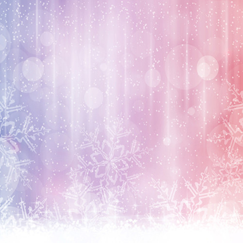 Click Props Backdrops Pink Snowflake Backdrop (5 x 5')