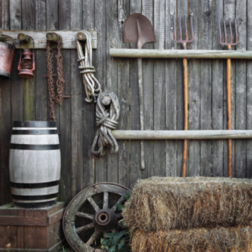 Click Props Backdrops Inside Barn Backdrop (5 x 5')