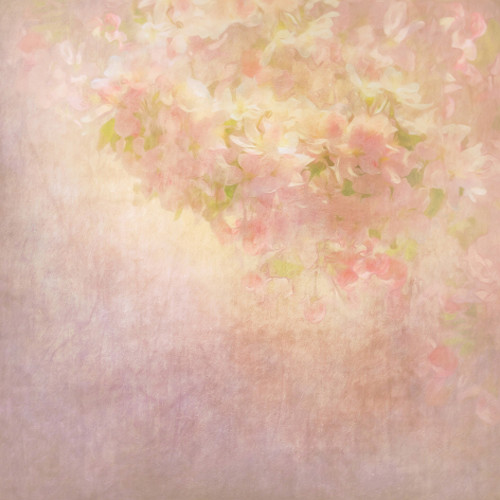 Click Props Backdrops Flower Painting Peach Backdrop (5 x 5')