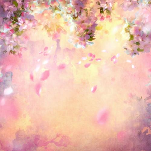 Click Props Backdrops Pink Blossom Backdrop (5 x 5')