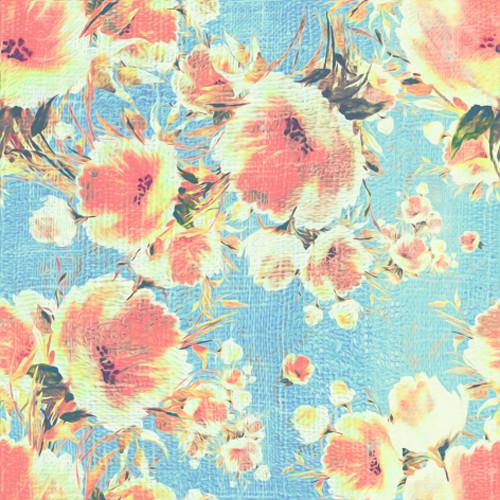 Click Props Backdrops Poppies Blue Backdrop (5 x 5')