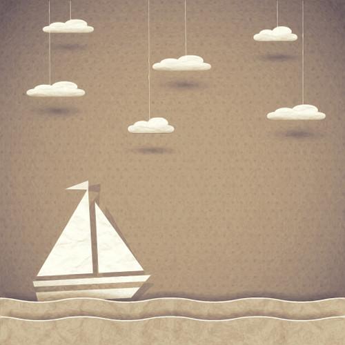 Click Props Backdrops Paper Ship Brown Backdrop (5 x 5')