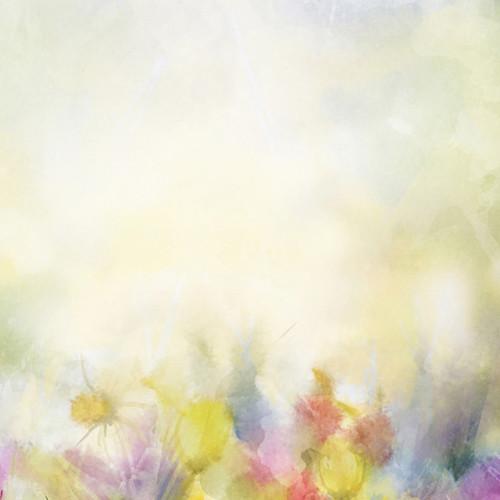 Click Props Backdrops Tulip Watercolour Backdrop (5 x 5')