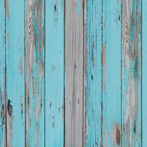 Click Props Backdrops Teal Decking Backdrop (5 x 5')