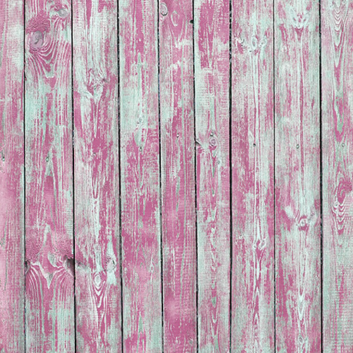Click Props Backdrops Pink Stripped Plank Backdrop (5 x 5')