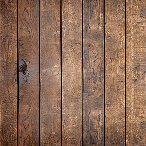 Click Props Backdrops Mahogany Plank Backdrop (5 x 5')