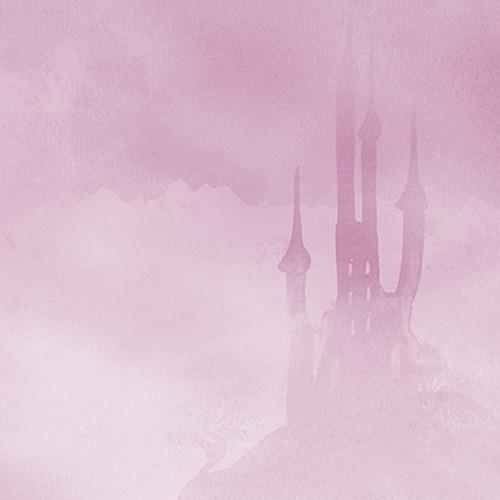 Click Props Backdrops Pink Castle Backdrop (5 x 5')