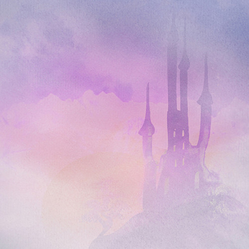 Click Props Backdrops Purple Castle Backdrop (5 x 5')