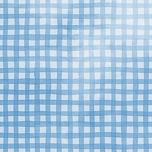 Click Props Backdrops Gingham Blue Backdrop (5 x 5')