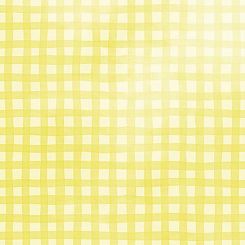 Click Props Backdrops Gingham Yellow Backdrop (5 x 5')