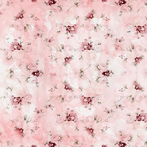Click Props Backdrops Pink Flower Wallpaper Backdrop (5 x 5')