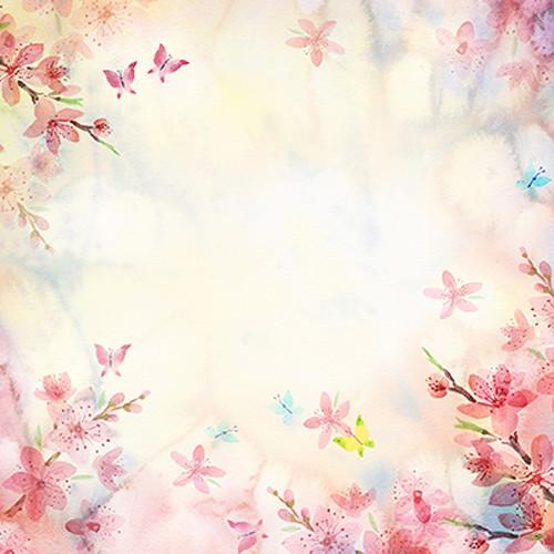 Click Props Backdrops Butterfly Watercolour Backdrop (5 x 8')