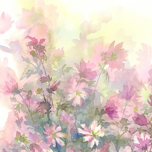 Click Props Backdrops Watercolour Bouquet Pink Backdrop (5 x 5')
