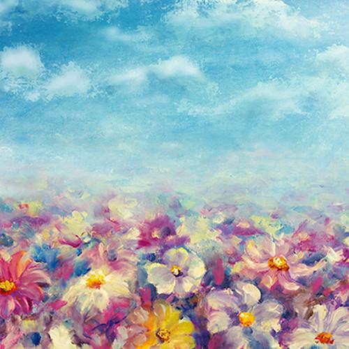 Click Props Backdrops Flower Field Backdrop (5 x 5')