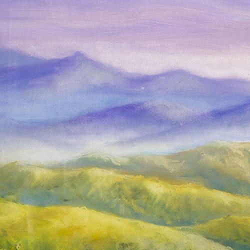 Click Props Backdrops Watercolor Landscape Backdrop (5 x 5')
