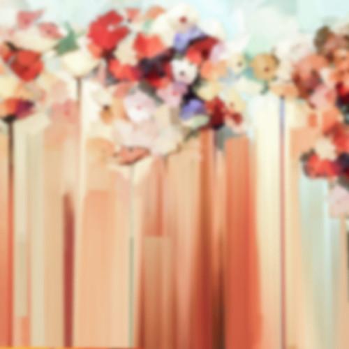 Click Props Backdrops Rouge Flower Streaks Backdrop (5 x 5')