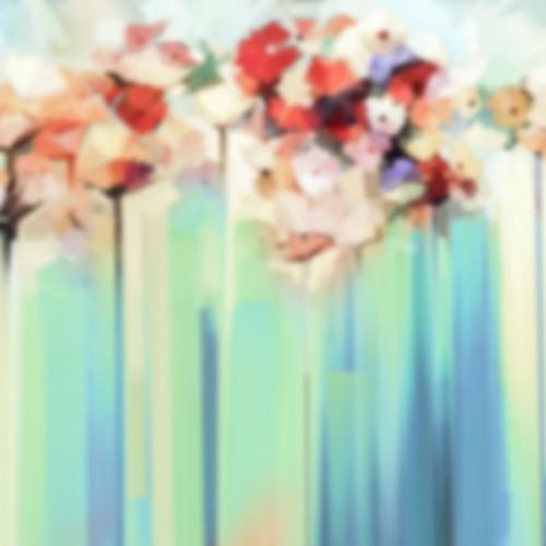 Click Props Backdrops Blue Flower Streaks Backdrop (5 x 5')