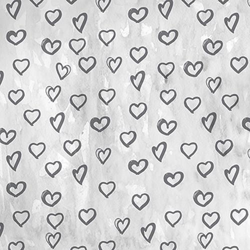 Click Props Backdrops Silver Hearts Backdrop (5 x 5')