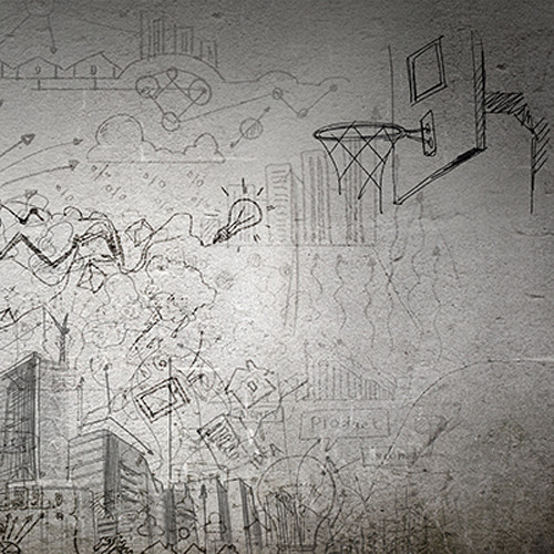 Click Props Backdrops Sports Sketch Backdrop (5 x 5')