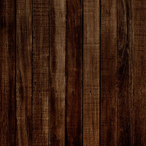 Click Props Backdrops Dark Brown Wood Backdrop (5 x 5')