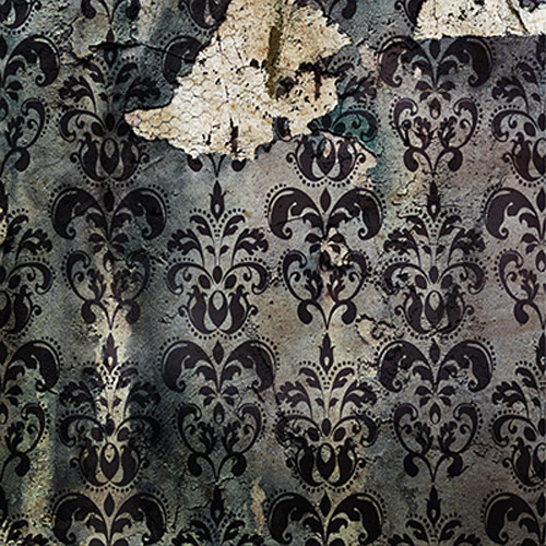 Click Props Backdrops Derelict Damask Gray Backdrop (5 x 5')