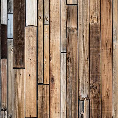 Click Props Backdrops Wood Shack Wall Backdrop (5 x 5')