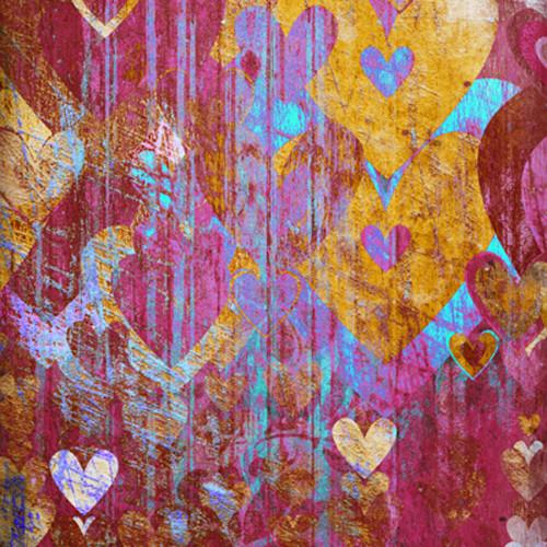 Click Props Backdrops Hearts Brown Backdrop (5 x 5')