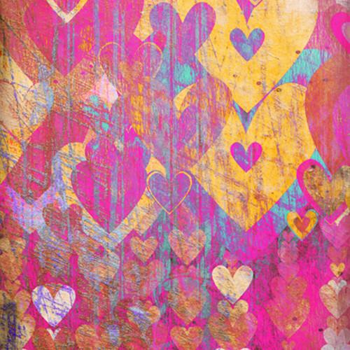 Click Props Backdrops Hearts Gold Backdrop (5 x 5')