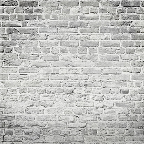 Click Props Backdrops Brick White Backdrop (5 x 5')