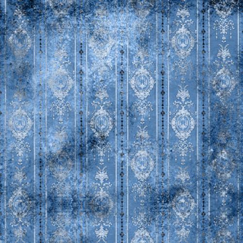 Click Props Backdrops Distressed Wallpaper Blue Backdrop (5 x 5')