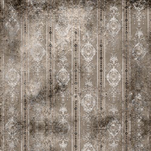 Click Props Backdrops Distressed Wallpaper Gray Backdrop (5 x 5')
