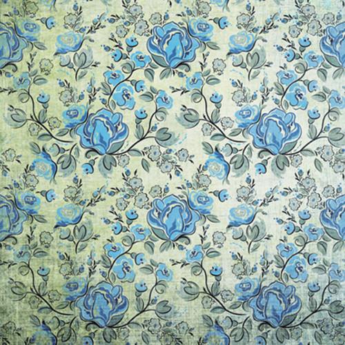 Click Props Backdrops Rose Blue Backdrop (5 x 5')