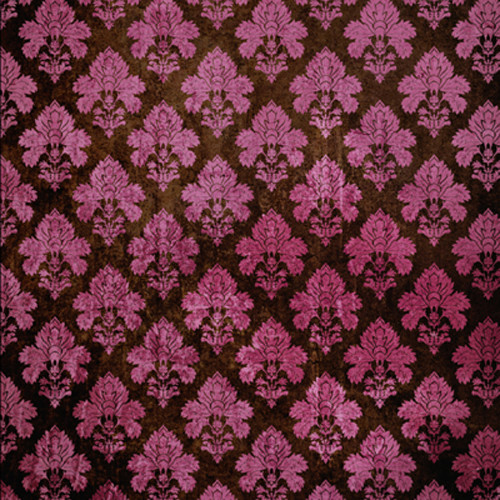 Click Props Backdrops Damask Dark Pink Backdrop (5 x 5')
