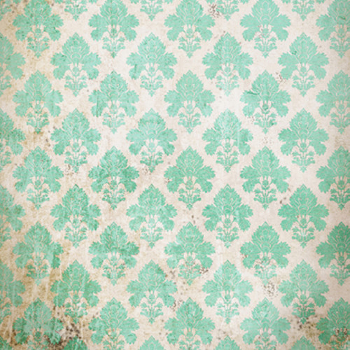 Click Props Backdrops Damask Distressed Green Backdrop (5 x 5')
