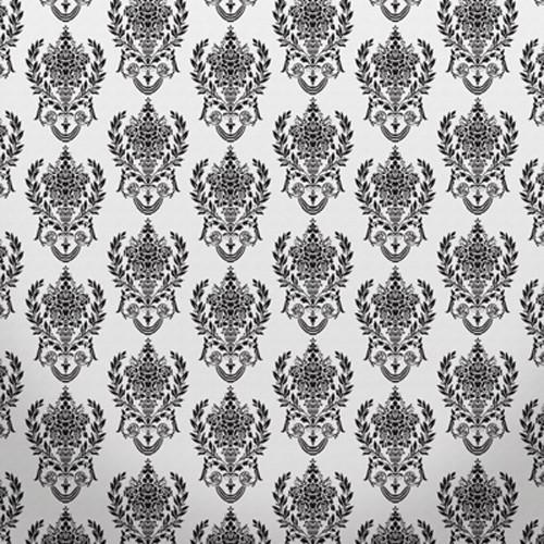 Click Props Backdrops Damask2 W Black Backdrop (5 x 5')